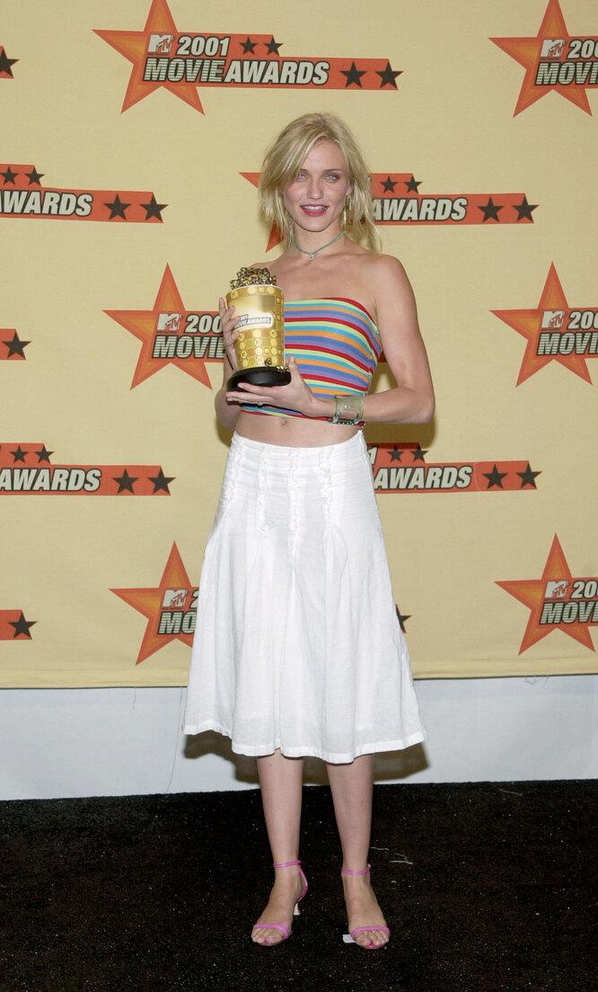 Кэмерон Диаз в 2001 году на церемонии вручения премииMTV Movie Awards