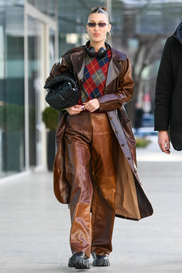 Белла Хадид вМилане 2020 год