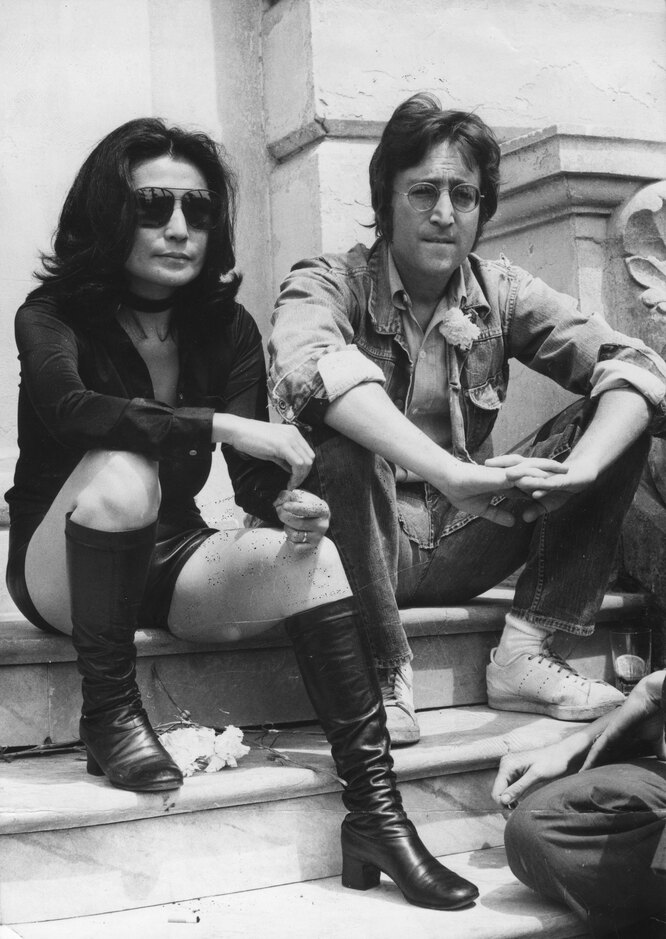 1971 г. Джон Леннон и Йоко Оно