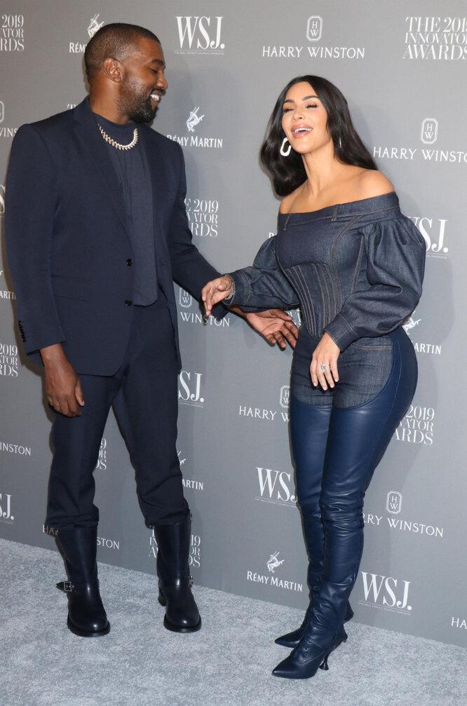 Ким Кардашьян и Канье Уэст на премии журнала в Нью-Йорке