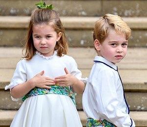 Принц Джордж и принцесса Шарлотта готовят маме ужины