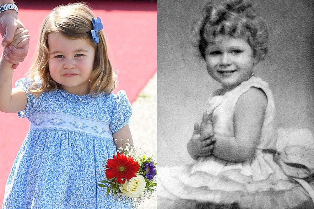 Слева: Шарлотта Кембриджская, Справа Ели