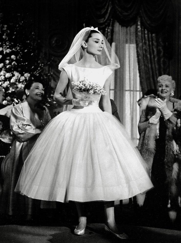 Одри Хепберн вфильме «Забавная мордашка», 1957 год