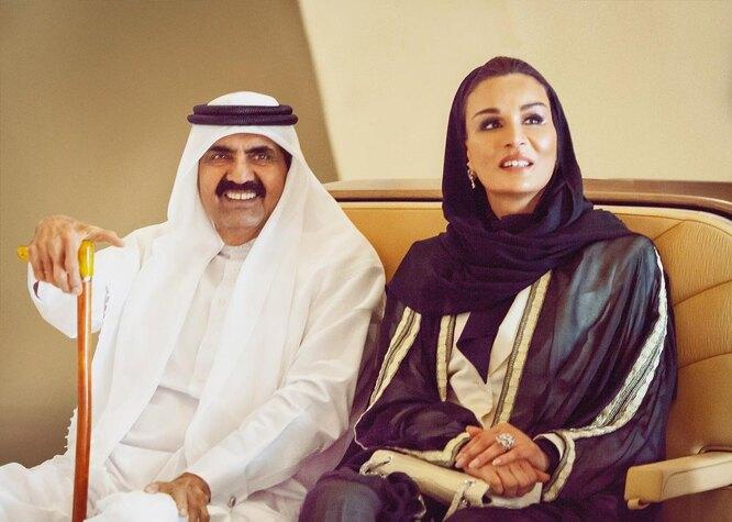 Хамад бин Халифа Аль Тани и Моза бинт Насер аль Миснед