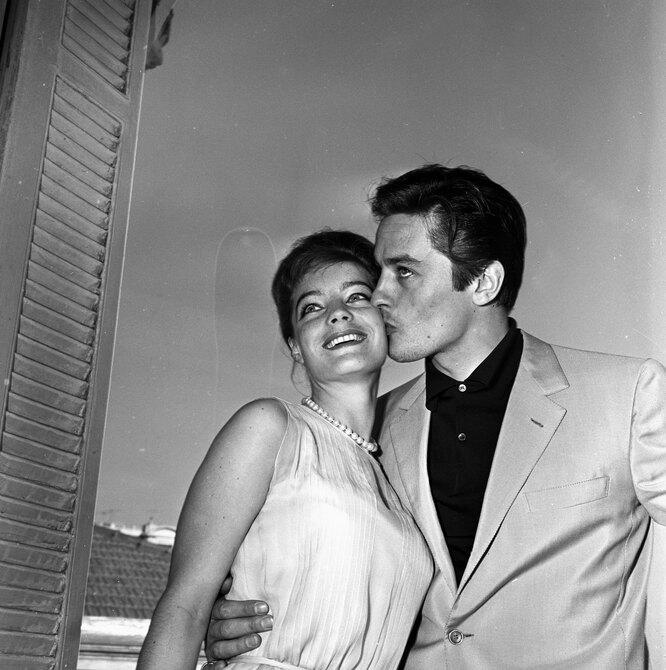 1962 г. Ален Делон и Роми Шнайдер