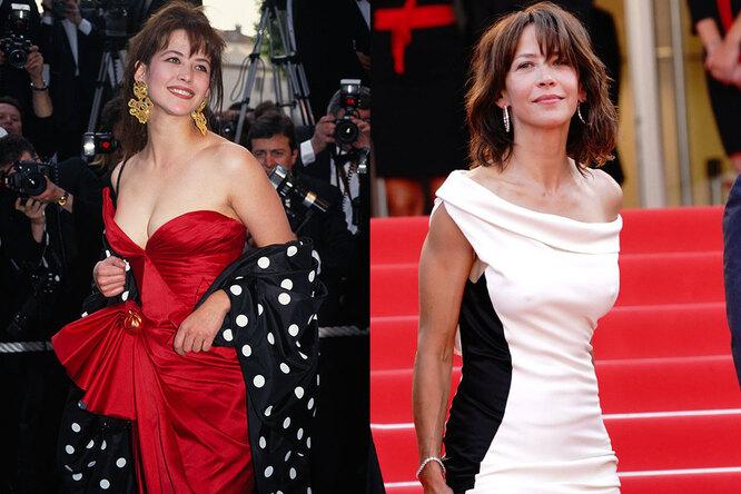 Софи Марсо на Каннском кинофестивале в 1993-м и 2021 году