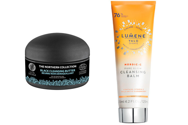 Natura Siberica The Northern Collection Black Cleansing Butter \ Lumene Valo Pure Glow Cleansing Balm