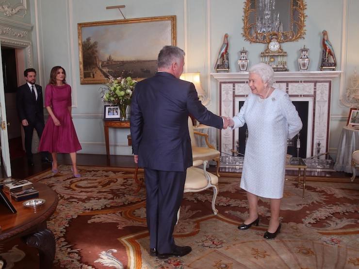 Король Абдалла II икоролева Елизавета II