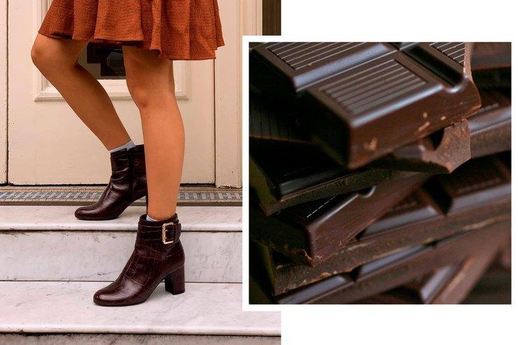 Полезные углеводы: выбираем сапоги исумку воттенке горького шоколада
