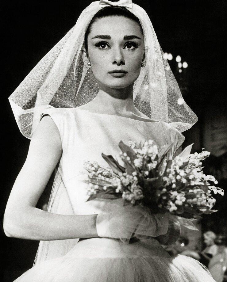 Одри Хепберн вфильме «Забавная мордашка», 1957