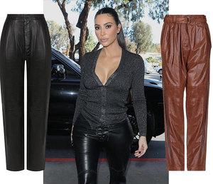 Как у Беллы и Ким: 10 кожаных брюк от 1000 рублей, которые подчеркнут все достоинства фигуры