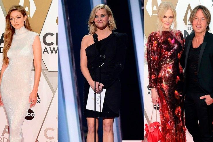 Какие платья Николь Кидман, Риз Уизерспун иДжиджи Хадид выбрали дляCMA Awards