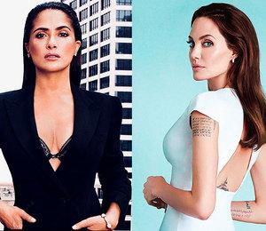 Без прикрас: Сальма Хайек показала редкое селфи сАнджелиной Джоли вИнстаграме