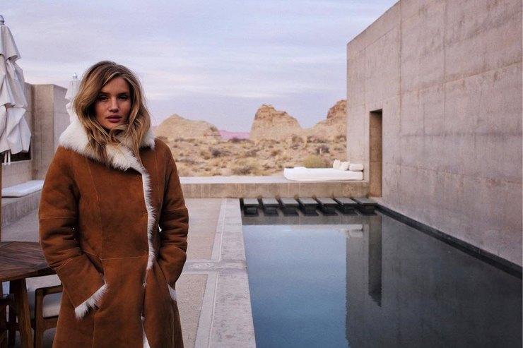 Джейсон Стэтхэм устроил модную фотосессию Роузи Хантингтон-Уайтли