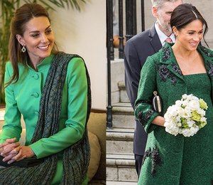 Драгоценный изумруд: как Кейт Миддлтон иМеган Маркл носят самый королевский оттенок