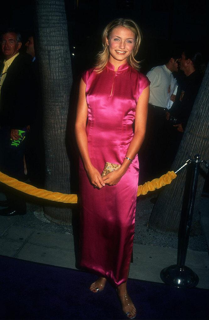 """Кэмерон Диаз в 1994 году на премьере фильма """"Маска"""""""