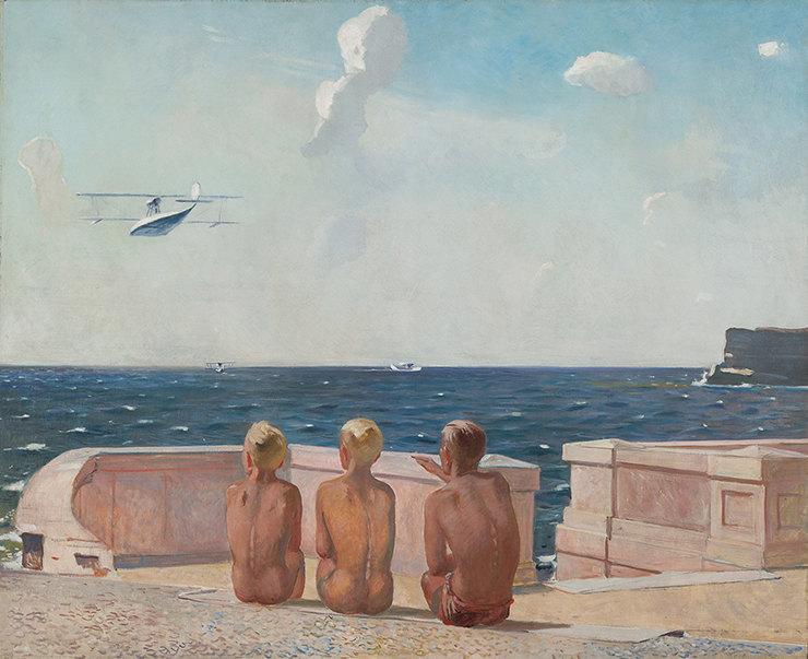 "Александр Дейнека. ""Будущие летчики"". 1938."