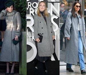 Как носить серое пальто и не выглядеть скучно? 5 подсказок от самых модных звезд