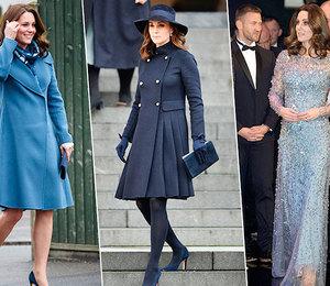 На стиле: лучшие выходы герцогини Кэтрин за время третьей беременности