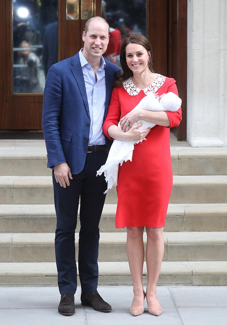 Принц Уильям иКейт Миддлтон навыписке принца Луи, 23 апреля 2018 года