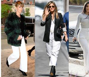 Как носить белые брюки зимой: 5 универсальных советов от голливудских звезд