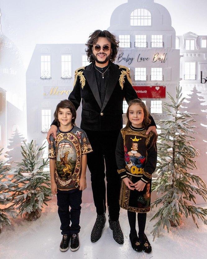 Филипп Киркоров с детьми