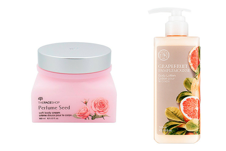 The Face Shop Крем длятела Soft Body Cream Perfume Seed; The Face ShopЛосьон длятела Grapefruit