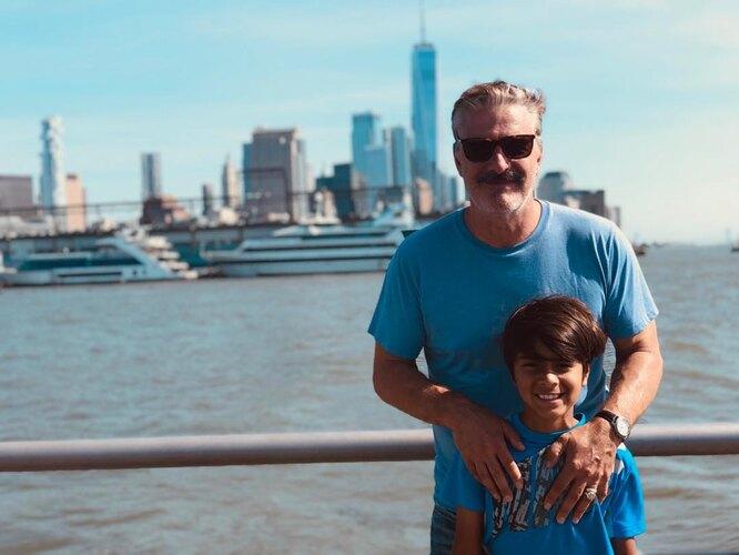 Крис Нот со старшим сыном Орионом