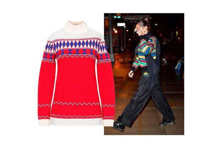 Как уБеллы Хадид: 10 «бабушкиных» свитеров, которые незахочется снимать все праздники