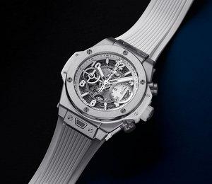 Часовой бренд Hublot представил модель часов Big Bang Unico вбелом цвете