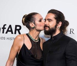Хайди Клум поцеловала молодого жениха на гала-ужине в Гонконге