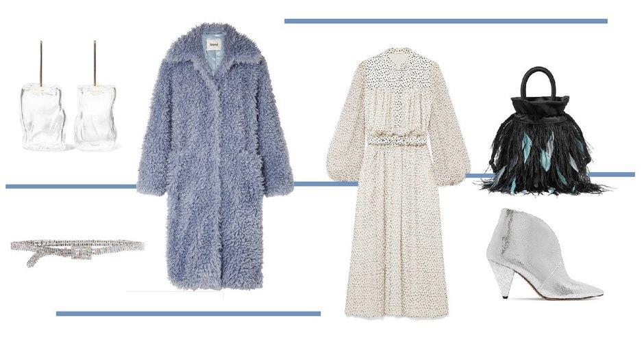 Пальто, Stand Studio, платье, Adam Lippes; туфли, Isabel Marant: сумка, Rixo; серьги, Maryam Nassir Zadeh; пояс, Black&Brown