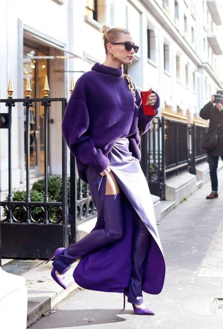 Хейли Бибер наНеделе моды вПариже 2020 год