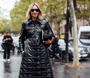 Вместо пуховика: как носить стеганое пальто