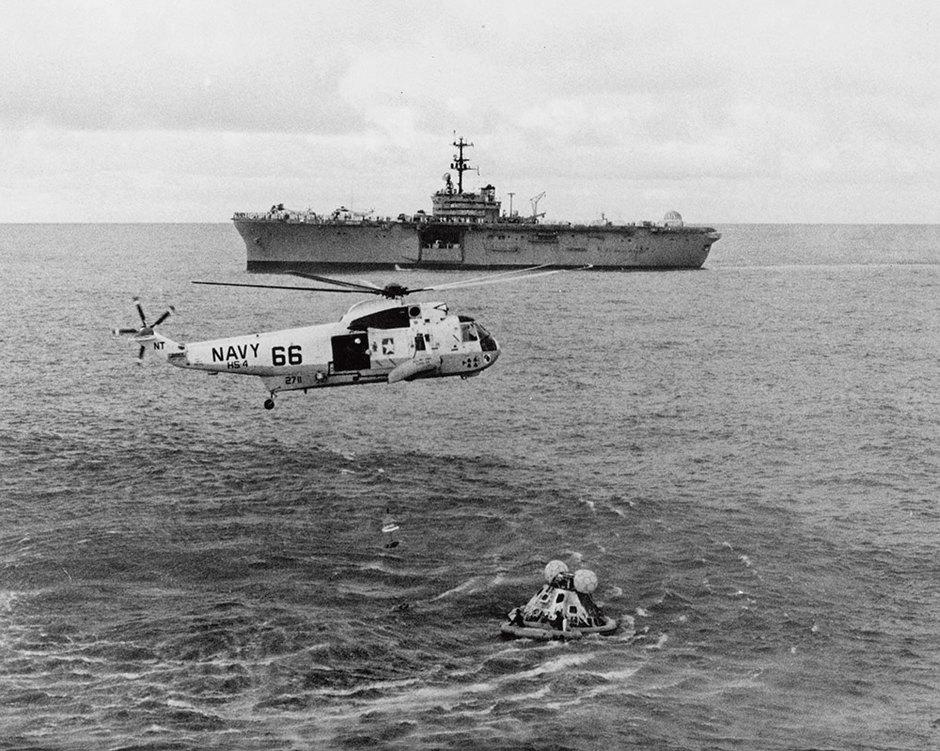 """Экипаж """"Аполлон-13"""" после возвращения наЗемлю"""