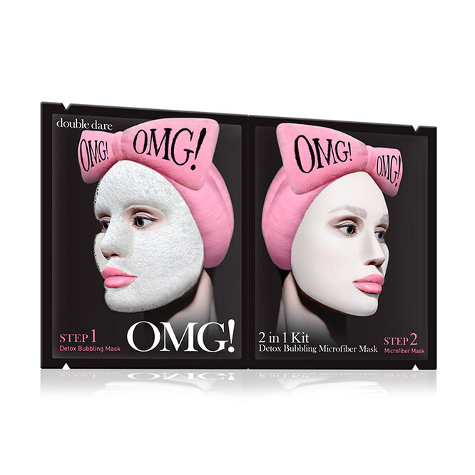 Detox Bubbling Microfiber Mask Kit, Double Dare OMG!
