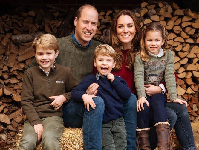 Кейт Миддлтон Принц Уильям с детьми