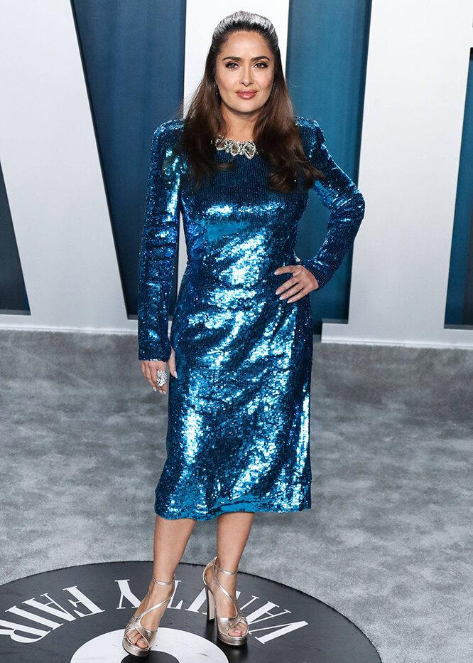 Сальма Хайек в 2020 году на вечеринке Vanity Fair