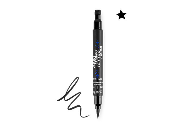 Подводка-маркер дляглаз со штампом-звездочкой Rock Stars Tattoo Liner, MixIt