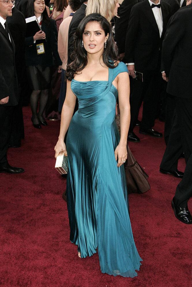 """Сальма Хайек в 2006 году на церемонии вручения премии """"Оскар"""""""