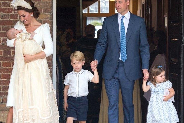 Герцогиня Кэтрин ипринц Уильям крестили принца Луи