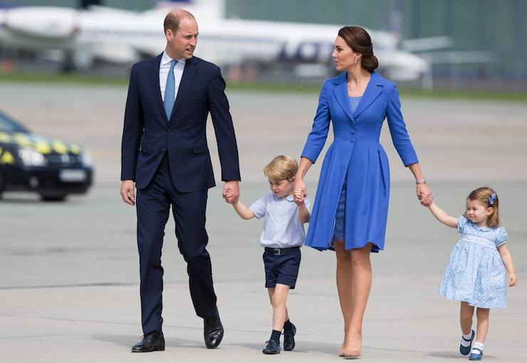 принц Уильям, принц Джордж, Кейт Миддлтон ипринцесса Шарлотта