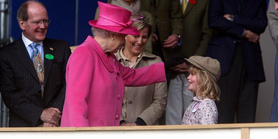 С леди Луизой, дочкой принца Эдварда