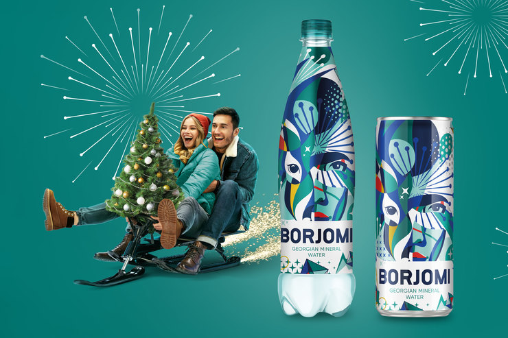 «Боржоми» заменил традиционного оленя намифическую героиню кНовому году