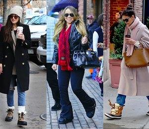 5 звезд, которые не стесняются носить непрезентабельную зимнюю обувь