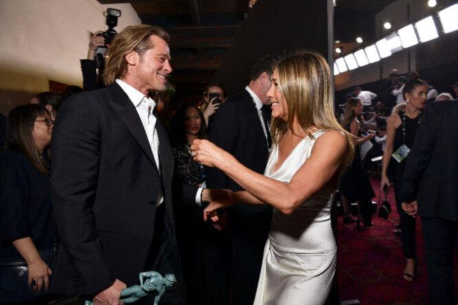 Брэд Питт и Дженнифер Энистон на SAG Awards