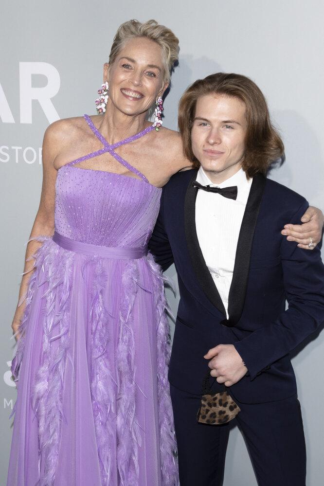 Шэрон Стоун с сыном