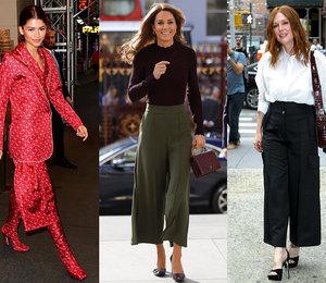 С чем носить брюки-кюлоты: 5 примеров от самых модных звезд