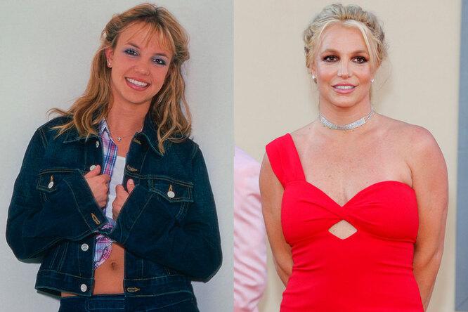Бритни Спирс в молодости и сейчас