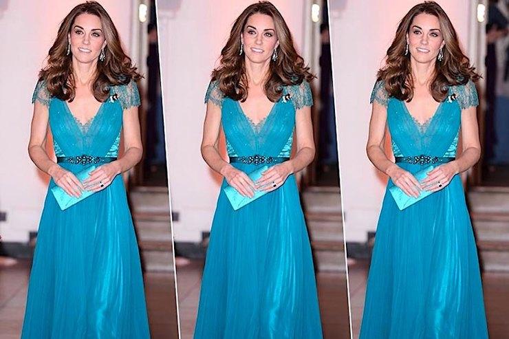 Герцогиня Кэтрин вышла всвет визумрудном платье, которое надевала 6 лет назад